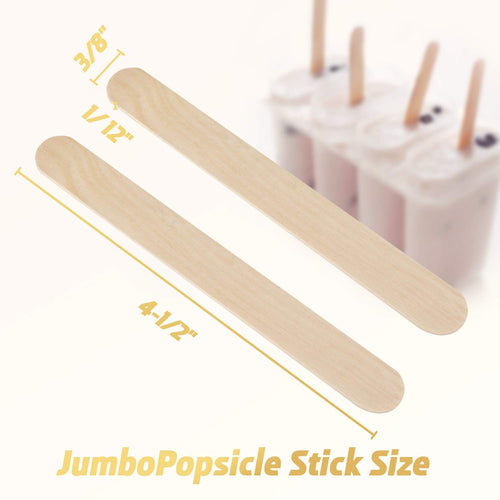 "Wooden Jumbo Craft Sticks-500Pcs, 6"" X 0.75"" - Magicfly"