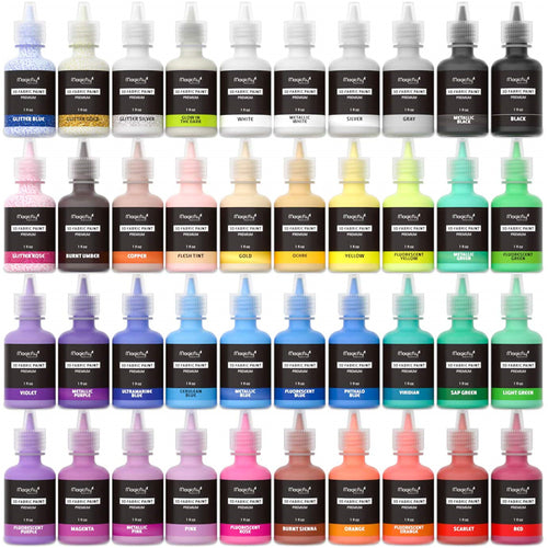 Puffy Paints-40 Colors, W/3 Brushes and Stencils