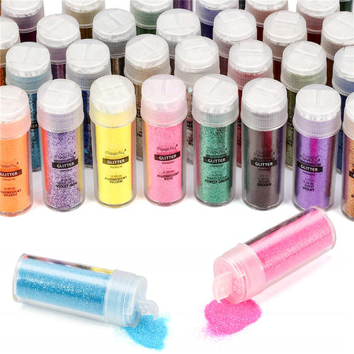 Glitter Set-50 Colors,for Nails, Face, Slime, Crafts DIY - Magicfly
