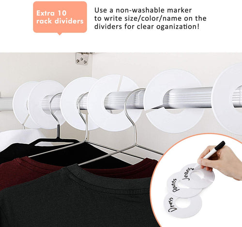 Closet Shelf Dividers-8 Pack W/10 Clothing Rack Sizes Dividers - Magicfly