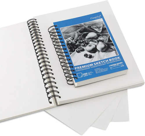 Sketchbooks, 105 Pages, 5.5 X 8.5 inches - Pack of 3 - Magicfly