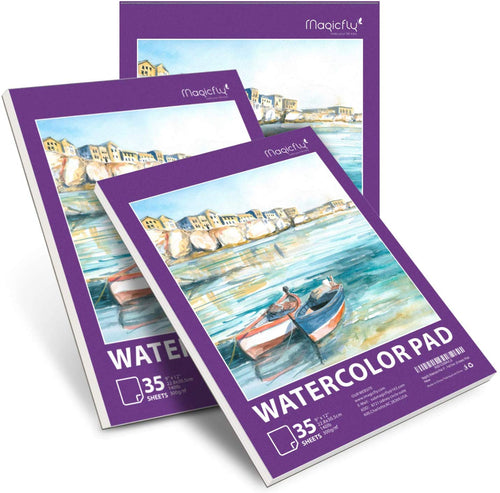 Watercolor Paper Pad-3 Pack 140 Pound(Each), 9 X 12 inches