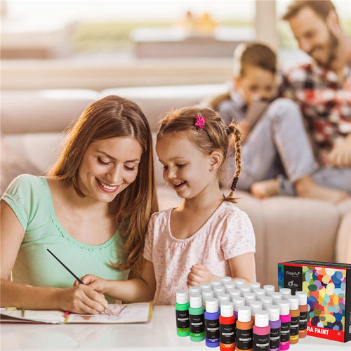 Premium Kids Washable Tempera Paint, Glitter & Glow- Set of 30 - Magicfly
