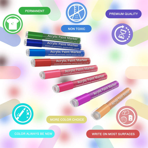 Acrylic Paint Pens-12/28 Colors, For DIY Craft Projects - Magicfly