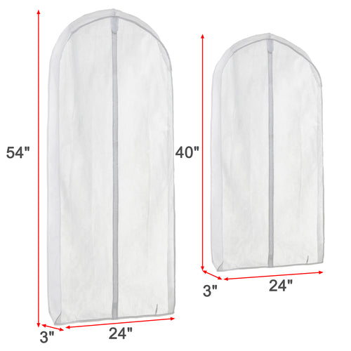 PEVA Clothes Anti-dust Cover Bag-2L (54''x24''x3''), 2M(40''x24''x3'') - Magicfly