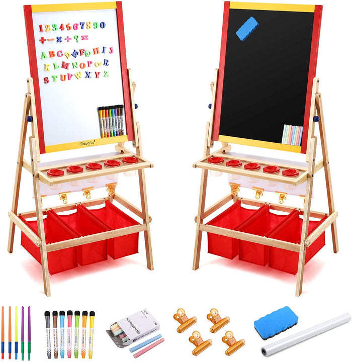 Kids Art Easel-Double Double Sided W/Art Accessories