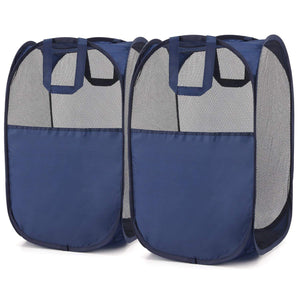 Magicfly  Pop-Up Laundry Hamper, Blue, 2-Pack, Upgraded Version - Magicfly