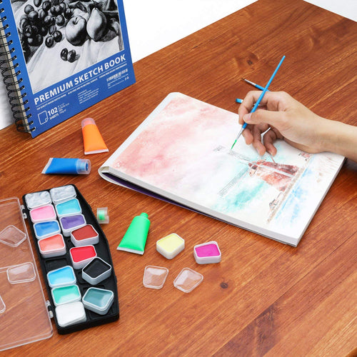 "Expert Watercolor Pad, 35 Sheets, 9x12"" -Set of 3 - Magicfly"