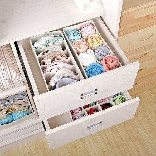 Closet Underwear Organizer-Set of 4, Beige/Gray/Black/Green/Teal Blue - Magicfly