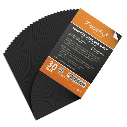 Adhesive Sheet 4 X 6 Inch, Magicfly Pack of 30 Flexible Magnet Sheets with Adhesive, Easy Peel and Stick Self Adhesive - Magicfly