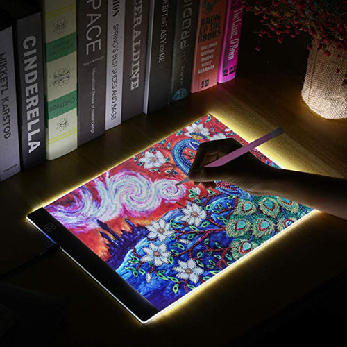 Diamond Painting A4 LED Light Pad, Tracing Light Box for Drawing, Dimmable Light Board Kit with USB Cable - Magicfly