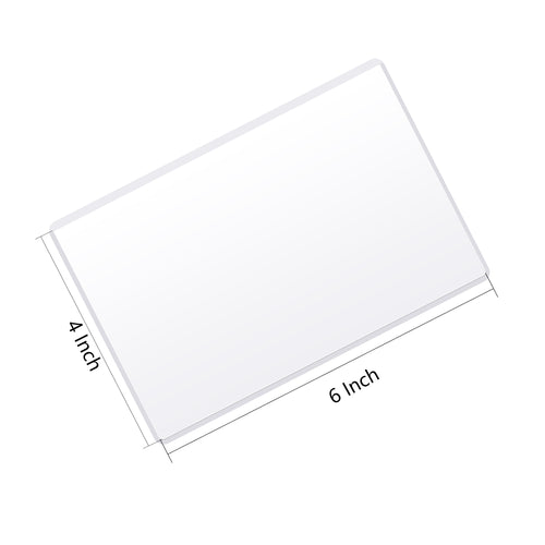 Magnetic Picture Frame with Clear Pocket, 4 x 6 Inches Refrigerator Photo Holder for Fridge Office Cabinet Locker, White - Pack of 15 - Magicfly