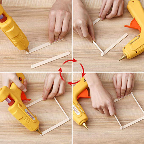 Mini Hot Glue Gun Sticks, Huge Pack of 300, 4 Inch Long and 0.27 Inch Diameter Hot Melt Glue Sticks - Magicfly