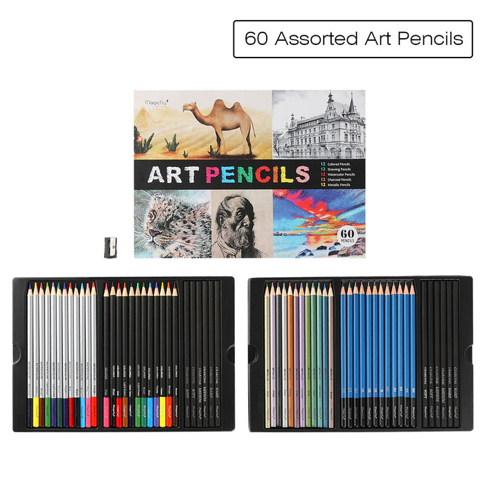 Art Pencils Set-60 Assorted Pencils, for Sketching Drawing