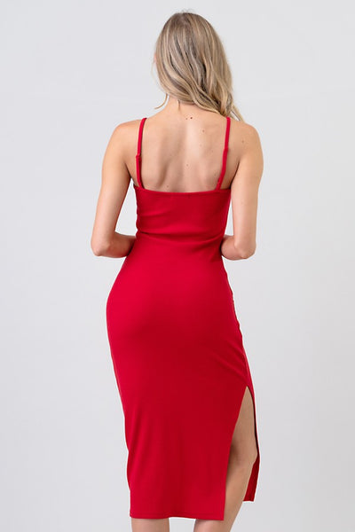 Sofia Red Midi Dress - Shop Mondae