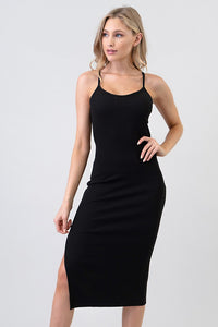 Nova Black Midi Dress - Shop Mondae