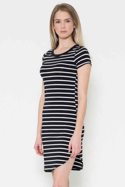 Coco Striped Dress - Shop Mondae