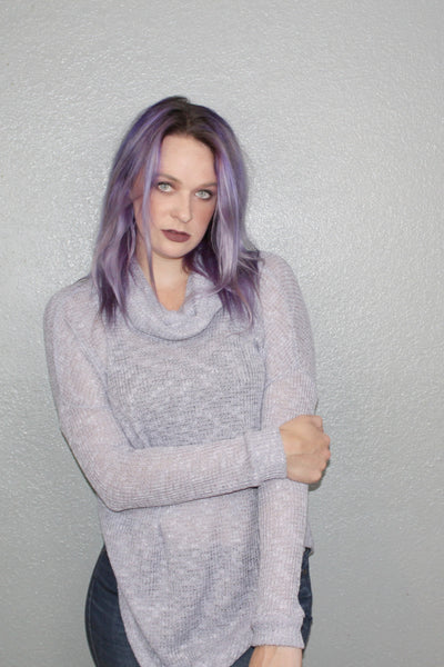 Lilac Sweater - Shop Mondae