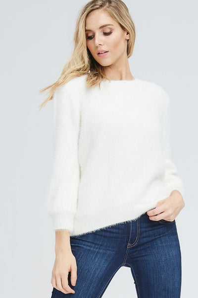 Banana Fuzzy Sweater - Shop Mondae