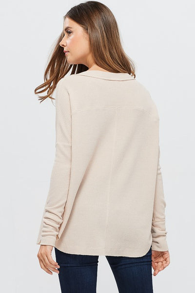 JoJo Oversized Thermal Top - Shop Mondae
