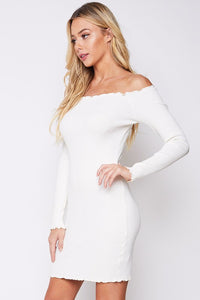 Off The Shoulder Dress - Shop Mondae