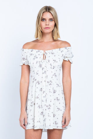 Aria Floral Mini Dress - Shop Mondae