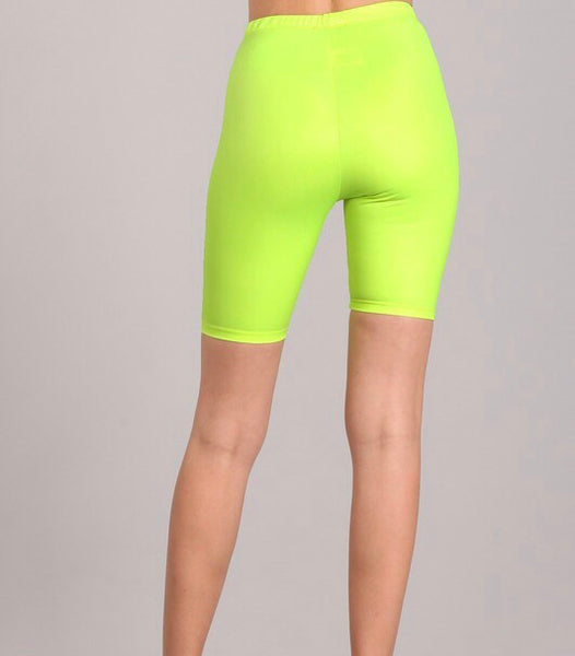 Neon Lights Biker Shorts - Shop Mondae