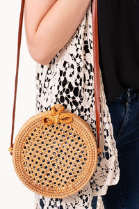 Cancun Round Woven Bag - Shop Mondae