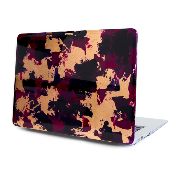 Burgundy Macbook - Ana Tere Canales