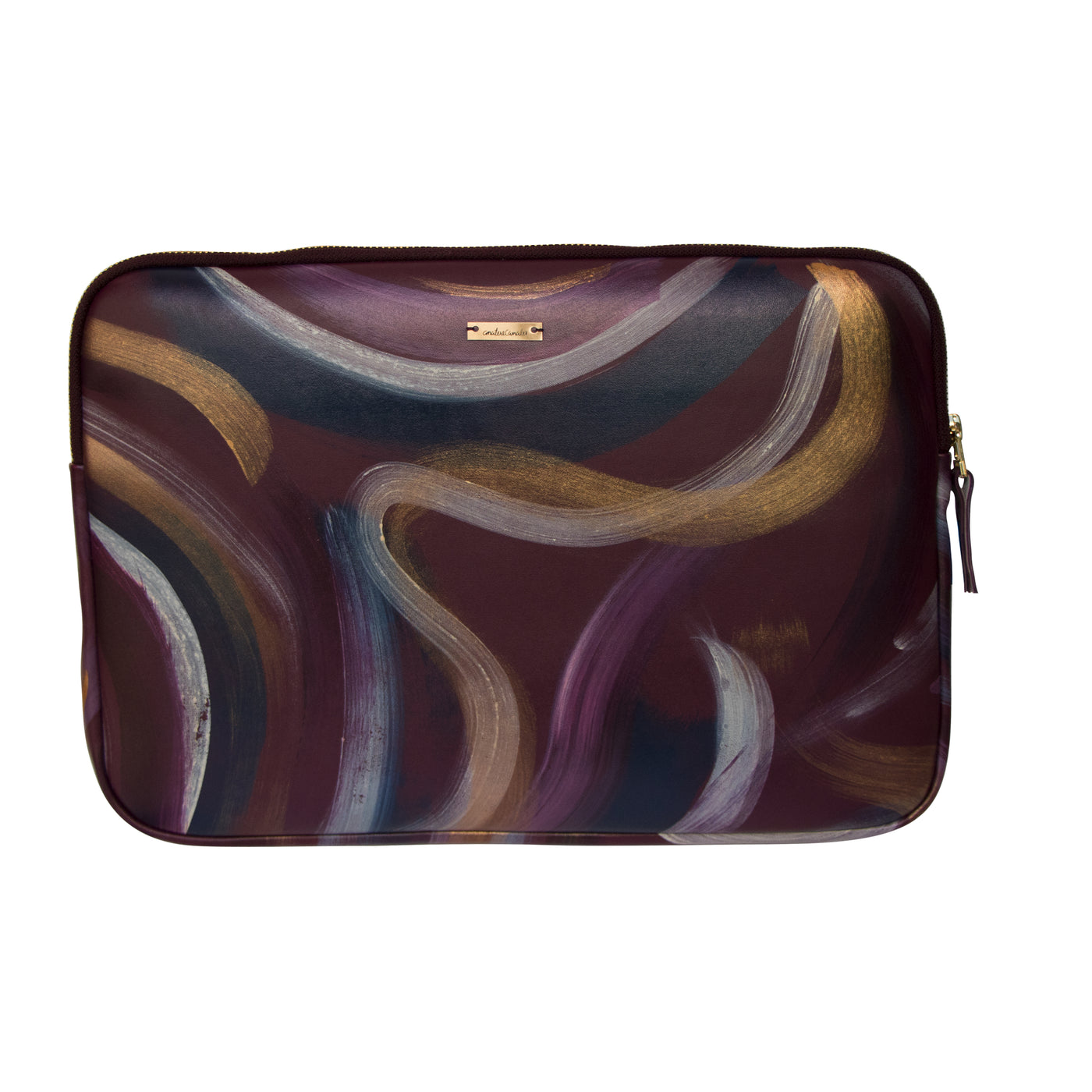 Burgundy Flow Laptop Bag - Ana Tere Canales