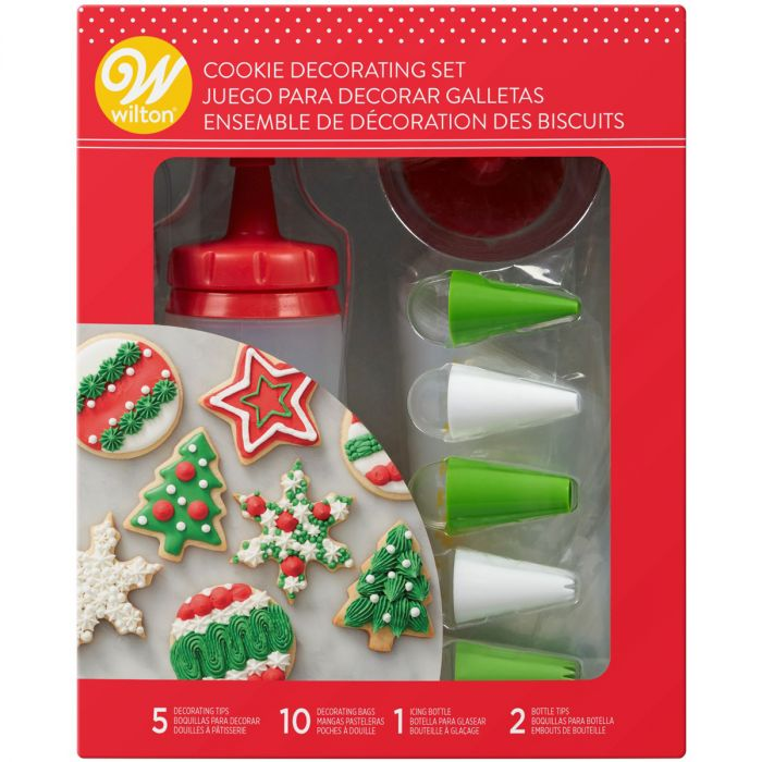 Set para decorar galletas Wilton, kit de boquillas y botella de silicona