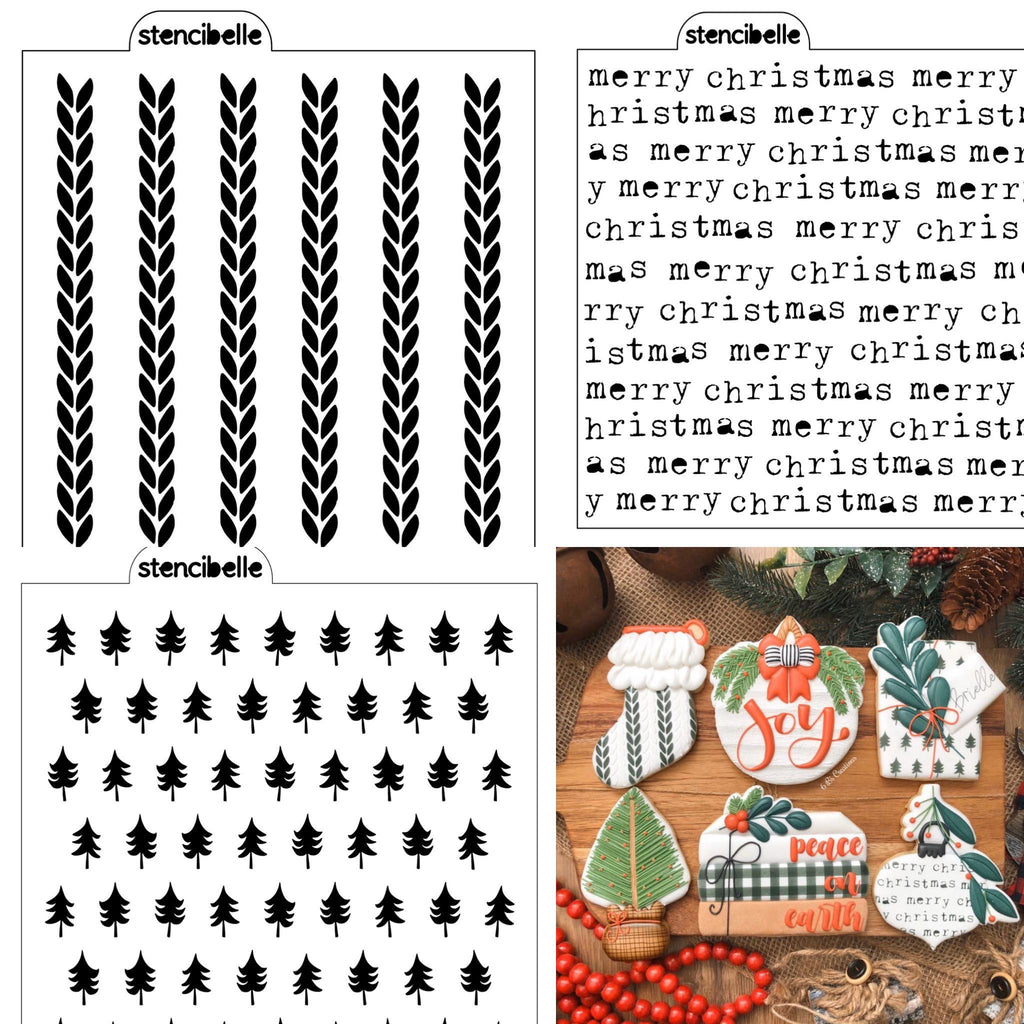 Christmas Stencil Pack - 6 B's Creations Class