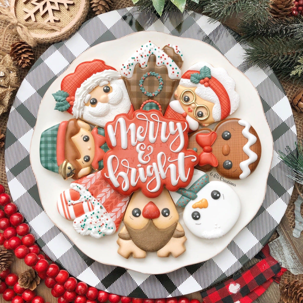 Christmas Platter Stencil Pack - 6 B's Creations Class