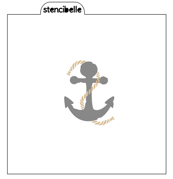 Anchor & Rope 2 piece Stencil Set
