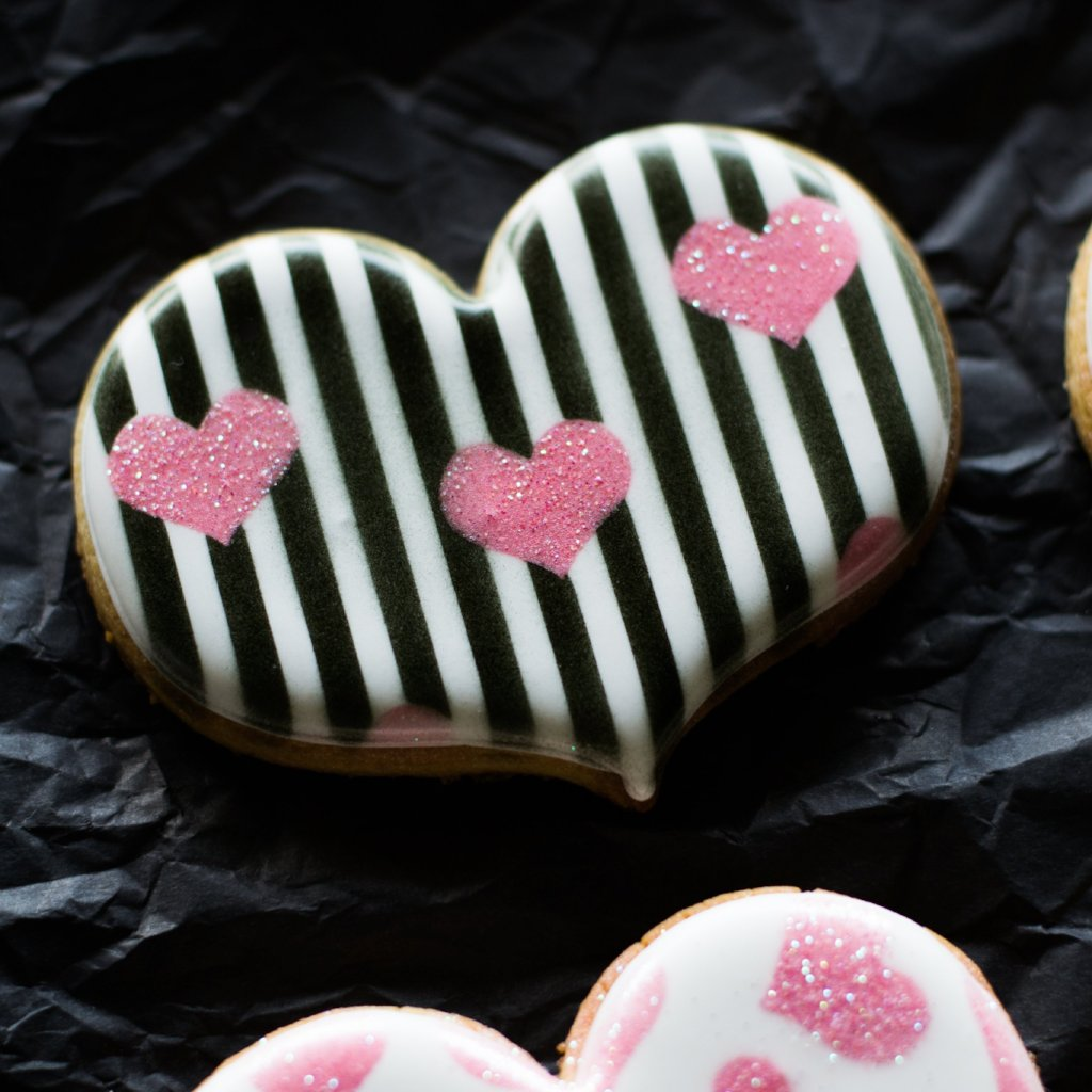 Stripes & Hearts Two Piece Stencil Set