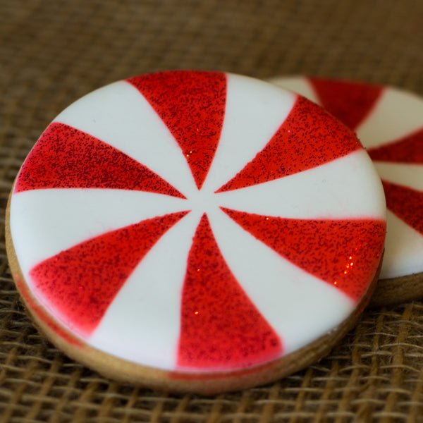 Peppermint Swirl Stencil - 3 sizes available