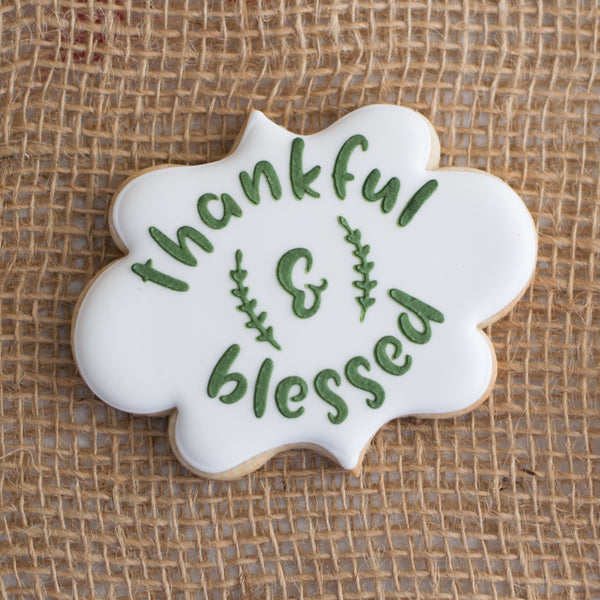 Thankful & Blessed Stencil