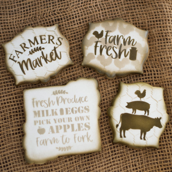 Farmers Market Stencil Pack - 5 Designs Available