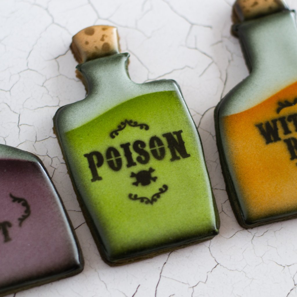 Apothecary Halloween Jar Label Set - 4 piece