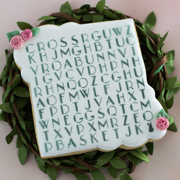 Easter Word Search Stencil