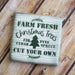 Farm Fresh Christmas Trees Stencil