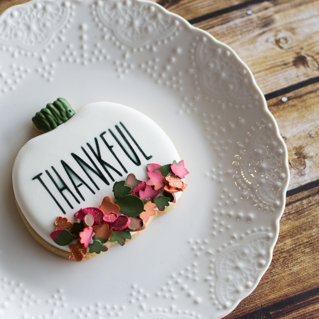 Thanksgiving Skinny Lettering - 3pc Stencil Set