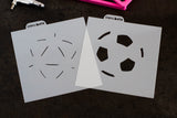 Soccer Ball 2 Piece Stencil Set - 2 sizes