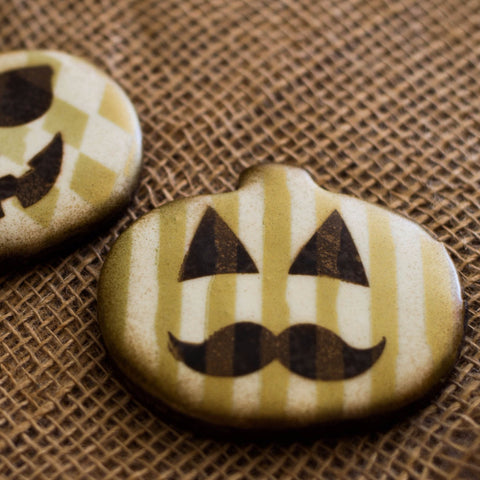 Hipster Halloween Pumpkin Faces - 2 Choices
