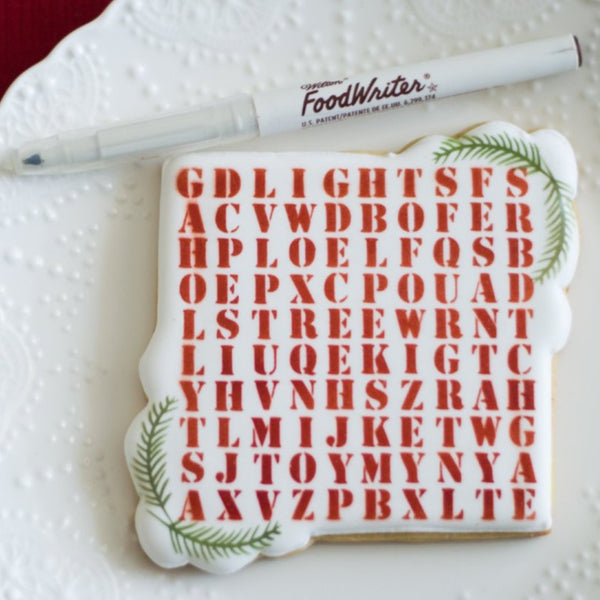 Christmas Word Search Stencil + FREE Bag Topper PDF's