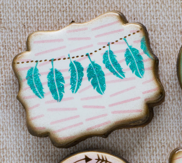 Feather Bunting 2 piece Stencil Set