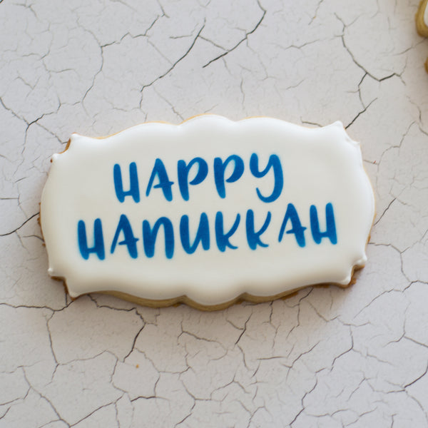 Happy Hanukkah Stencil