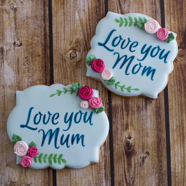 Love you Mum / Mom Stencil - 2 Options