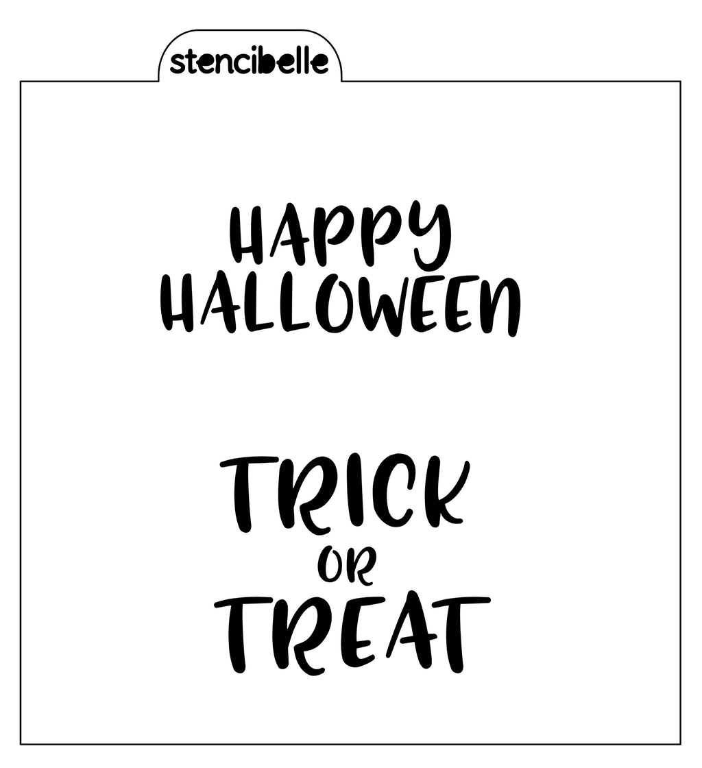 Happy Halloween / Trick or Treat Word Stencil
