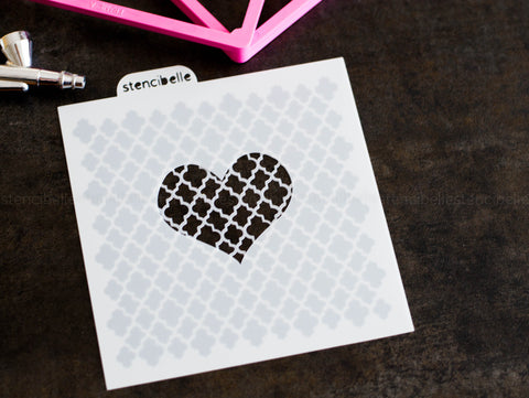 Heart Blocker Stencil - 4 sizes available